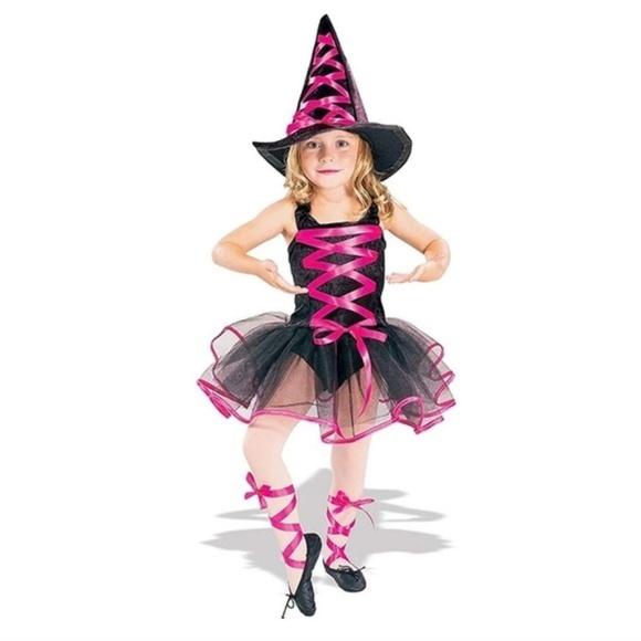 Costumes Girls Pink Ballerina Witch Costume Poshmark